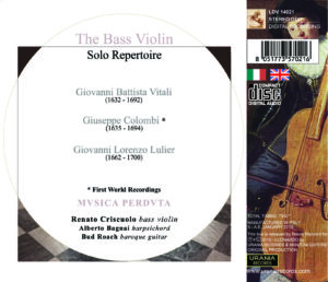 the bass violin solo repertoire the bass violin solo repertoire THE BASS VIOLIN SOLO REPERTOIRE 14021 INLAY 2
